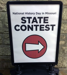 State Contest Direction Sign